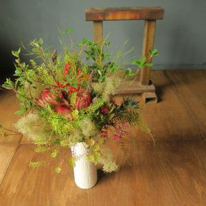 変わった植物の花束